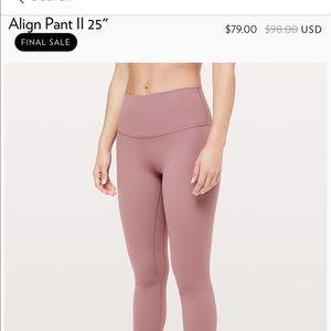 lululemon athletica Pants - Lululemon Align Pant 25''